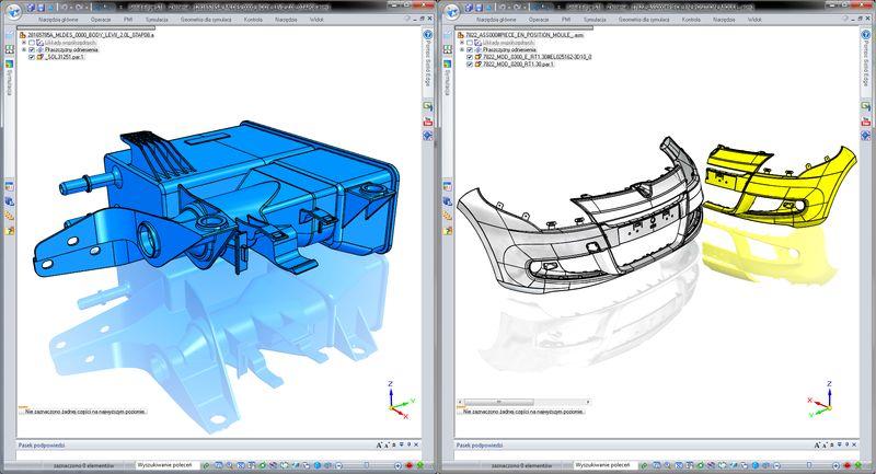 Przykłady importowanych modeli plików - CATIA V4 i CATIA V5