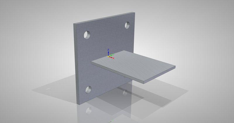 Przykład działania funkcji Unites Bodies dla elementów powłokowych w Solid Edge ST5 Simulation