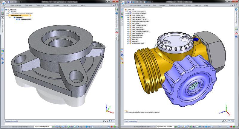 Przykłady importowanych formatów plików - SolidWorks