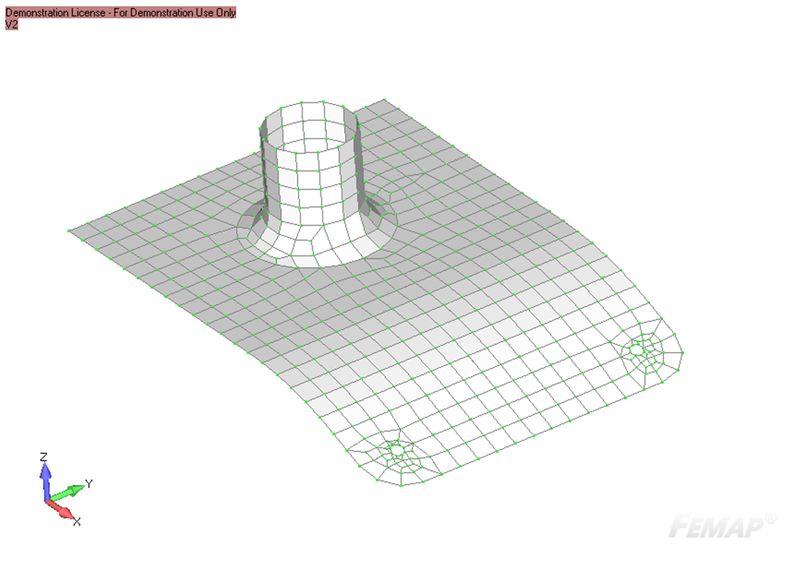 Model wejściowy przed modyfikacją za pomocą Mesing Toolbox