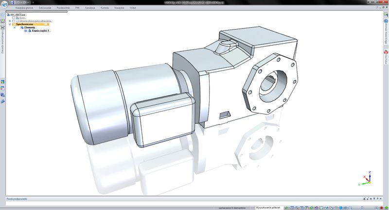 Przykłady importowanych formatów plików - Inventor