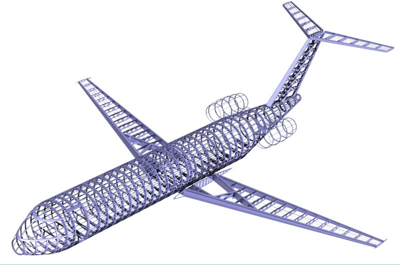 Projekt płatowca samolotu w Solid Edge