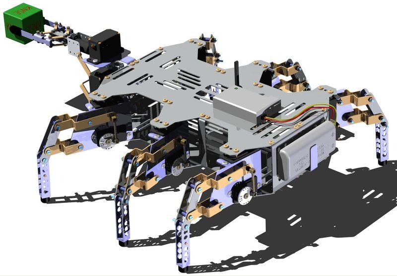 """Robot kroczący HEXCRAWLER"""", Autor: Dawid Kwiatkowski, Uniwersytet Technologiczno-Przyrodniczy w Bydgoszczy"""