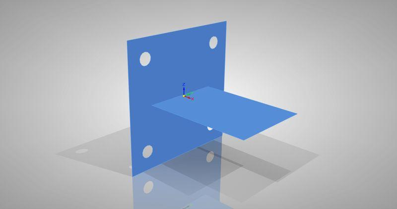 Model bryłowy zamieniony na model powierzchniowy w Solid Edge ST5 Simulation