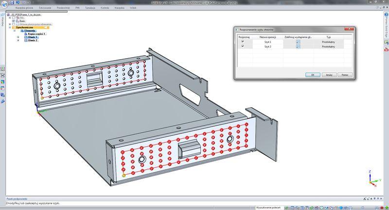 Praca z importowaną geometrią - rozpoznawanie otworów i szyków otworów
