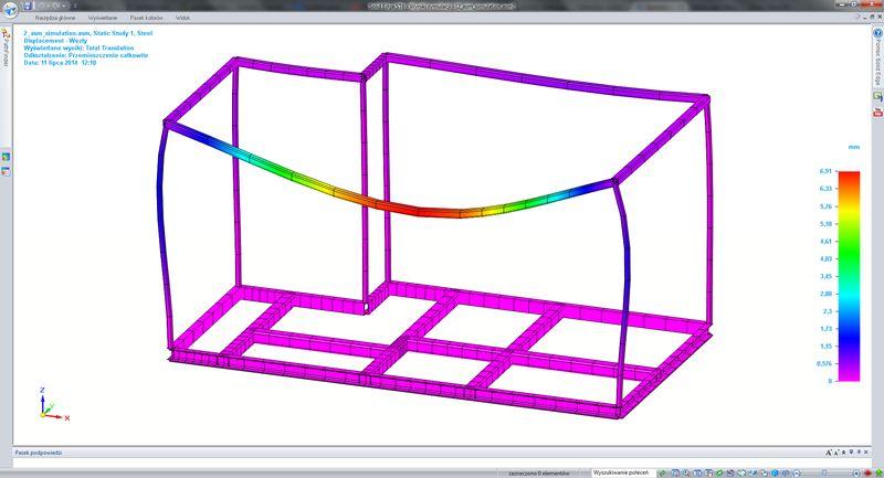 Projektowanie konstrukcji ramowych (model 3D, dokumentacja 2D, optymalizacja konstrukcji)