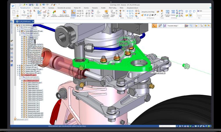 SolidEdge modelowanie części i złożeń