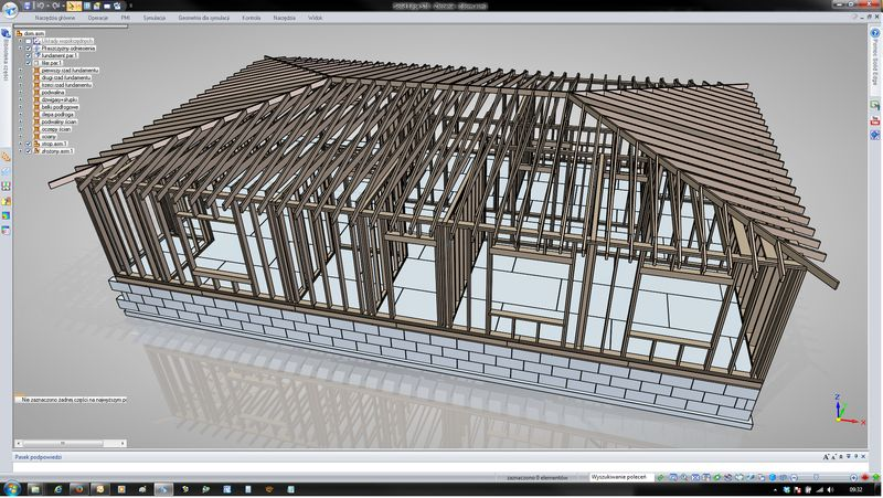Projekt hali stalowej w Solid Edge