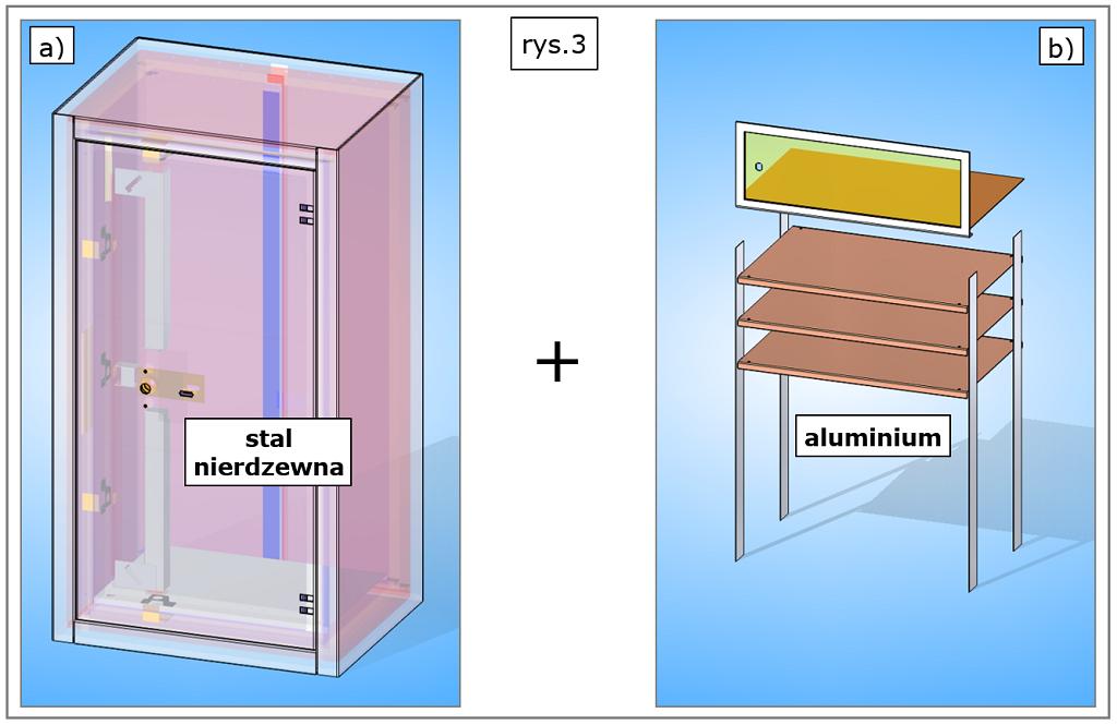 projekt 3D kasy pancernej solid edge