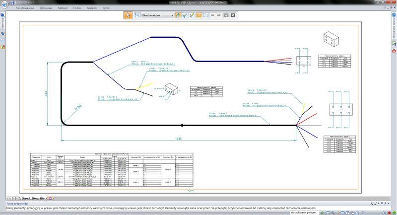 Projektowanie instalacji elektrycznych (wraz z rozwinięciem kabli w dokumentacji 2D)