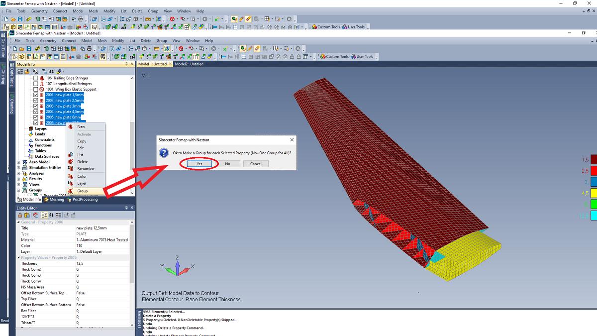 Jak sprawdzić masę elementów skończonych w Simcenter 3D?