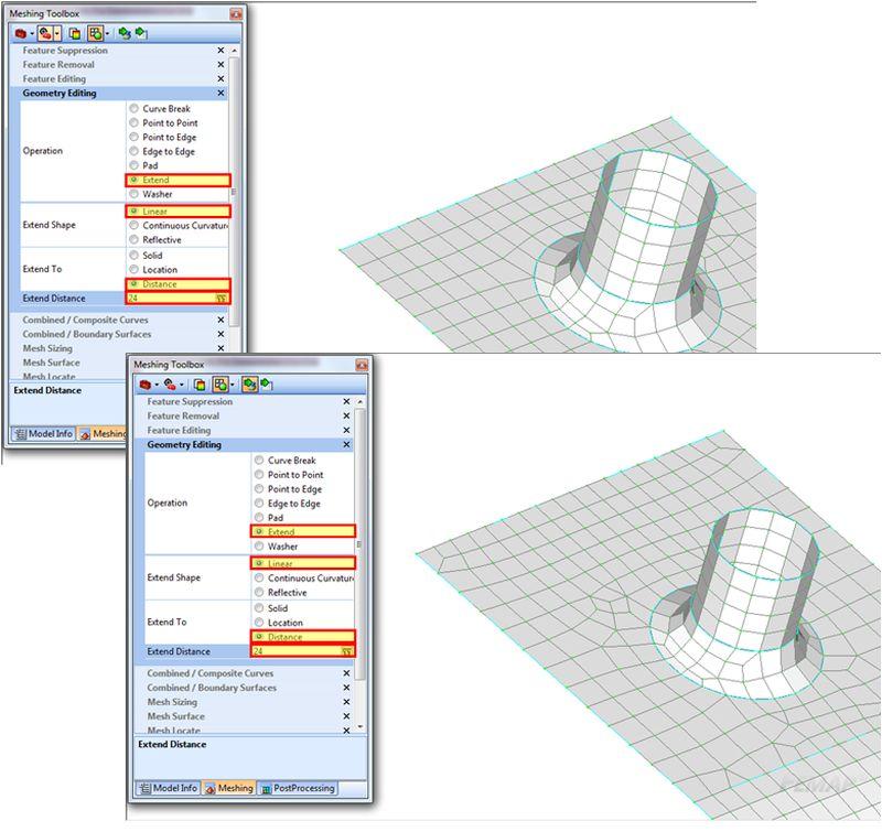 Modyfikacja geometrii za pomocną Meshing Toolbox
