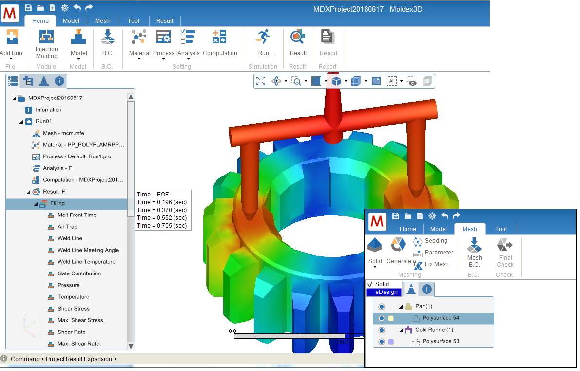 Moldex3D Studio - nowy interfejs programu Moldex3D, integrujący narzędzia pre- i postprocessingu na jednej platformie
