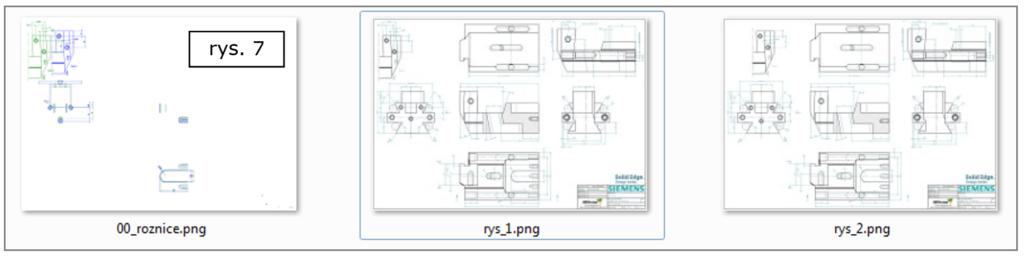 Porównywanie rysunków 2D zapis różnic do postaci plików graficznych w Solid Edge ST8