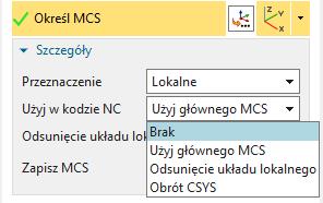 Opcje definiowania MCS lokalnego