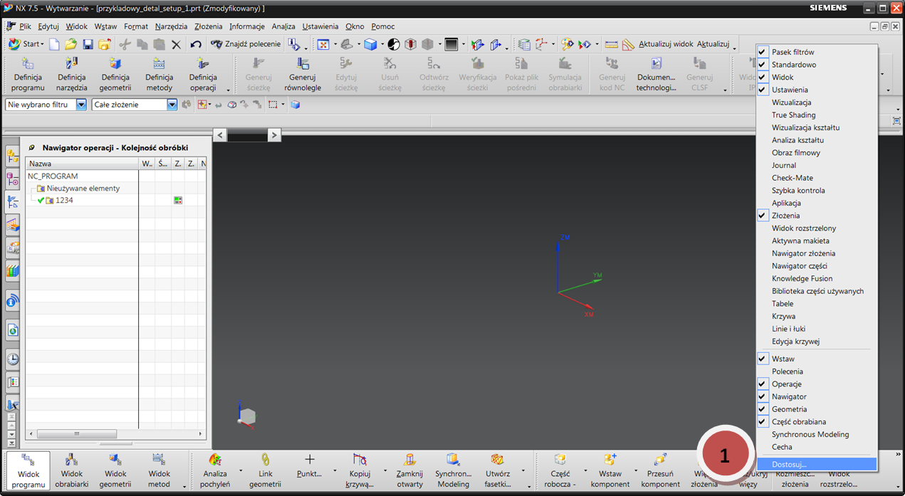 Tworzenie własnego paska narzędzi w CAM Express