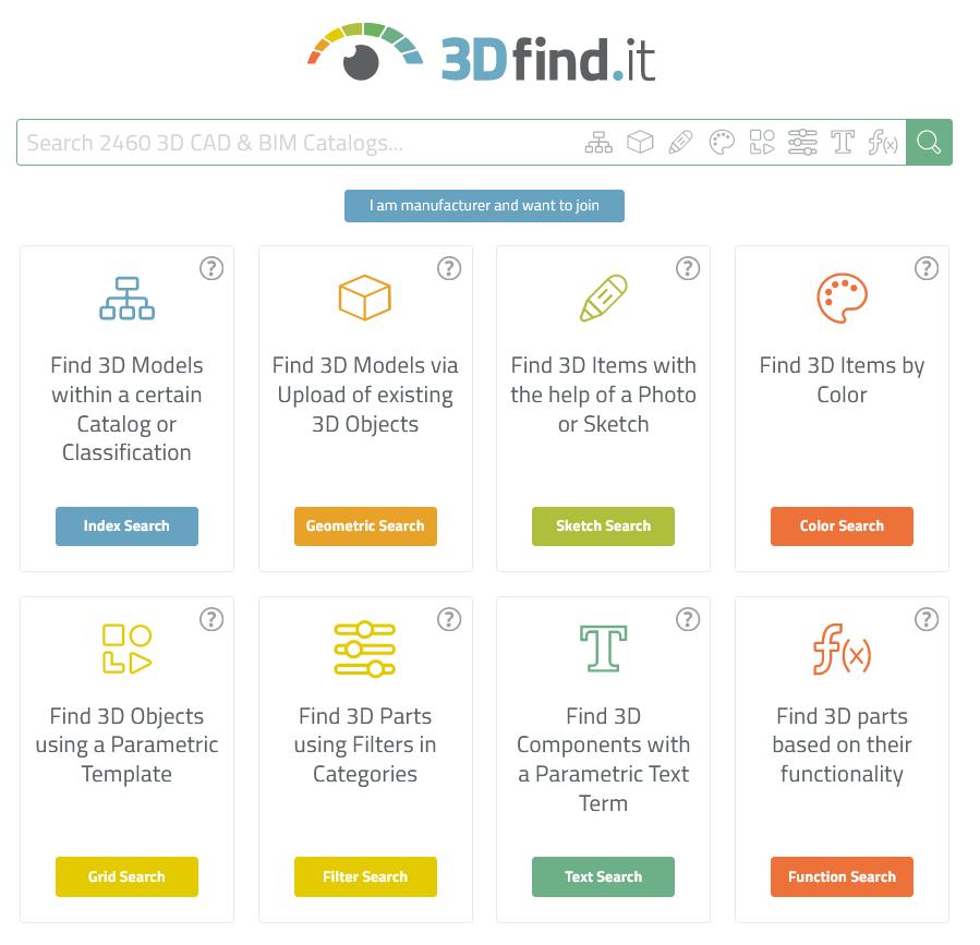 Sposoby wyszukiwania modeli na 3Dfind.it