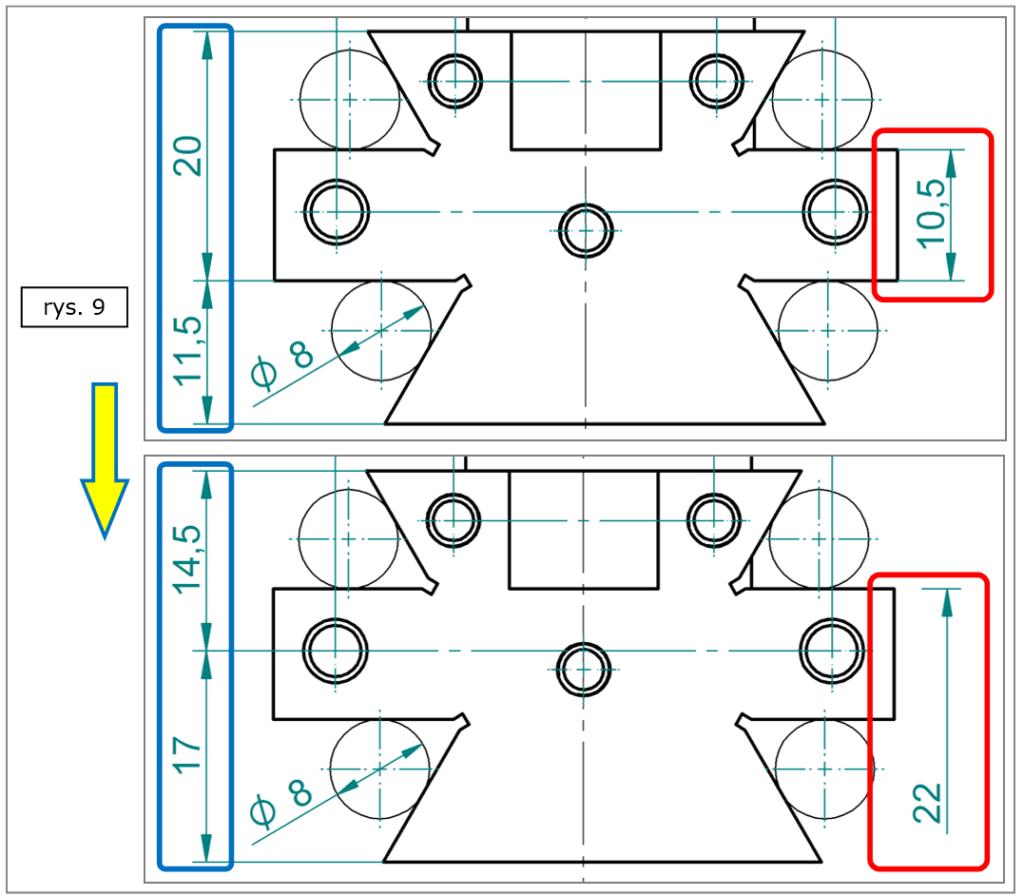 Przenoszenie linii pomocniczych dla wymiarów w Solid Edge ST8