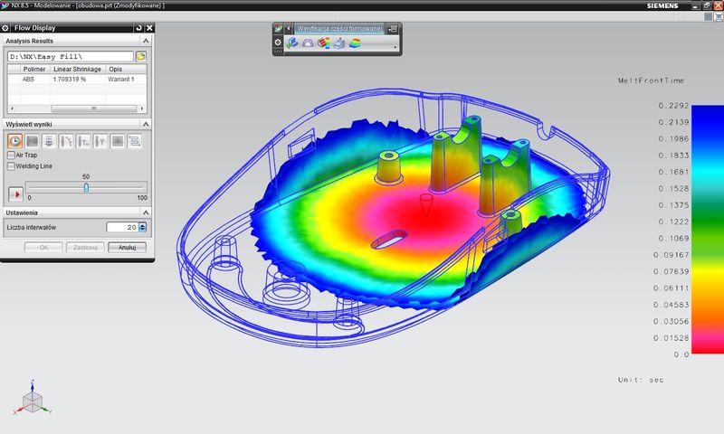 Zintegrowane rozwiązania symulacji wtrysku w NX 8.5