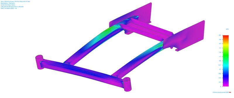Przykład połączenia elementów bryłowych i powierzchniowych w Solid Edge ST5 Simulation