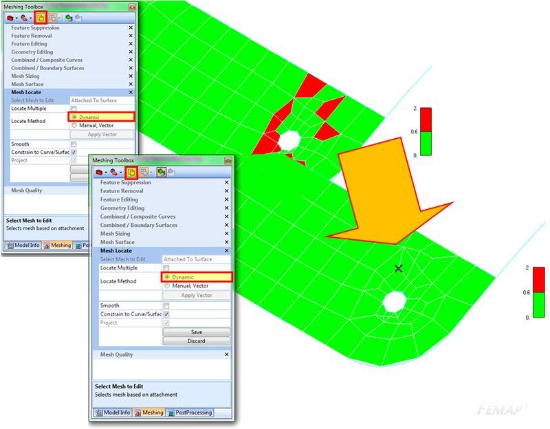 Kontrola jakości oraz dynamiczna zmiana kształtu siatki za pomocą Meshing Toolbox