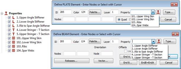 Wizualizacja i sortowanie właściwości elementów skończonych w Femap 11.3.