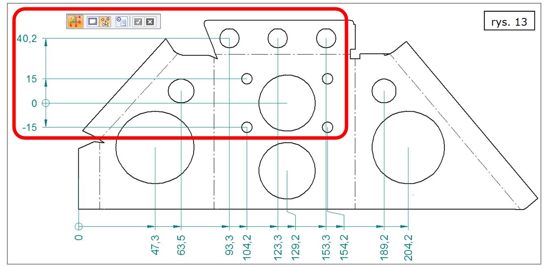 Automatyczne wymiarowanie współrzędnościowe (geometria) w ST7