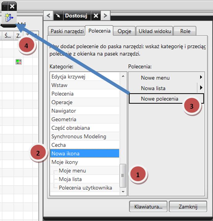 Tworzenie własnego przycisku w CAM Express