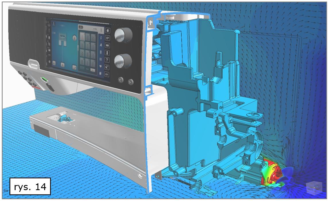 Analizy przepływów CAE w Solid Edge ST10
