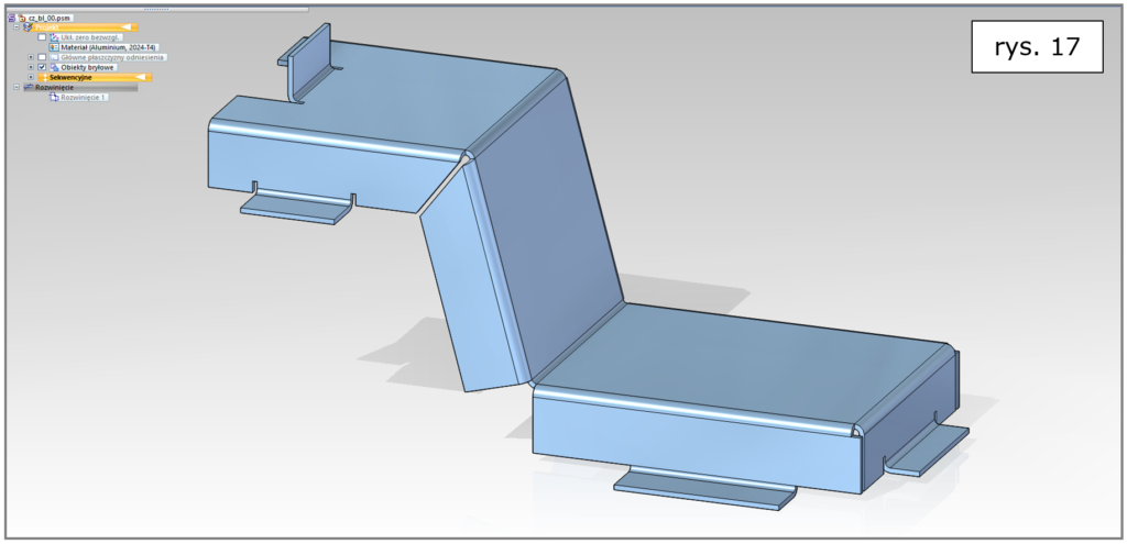 sheet metal gięcie proste