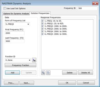 Listowanie częstotliwości w Femap 11.3.