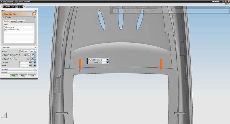 Automatyczne zaznaczenie ścian symetrycznych