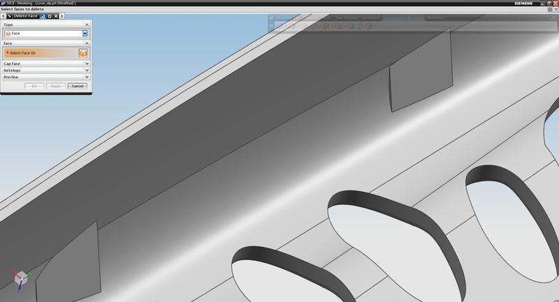 Efekt usunięcia zaznaczonych ścian modelu