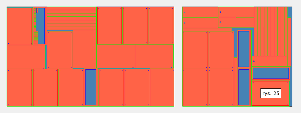 Efekt obliczeń optymalizacyjnych w solid edge 2d nesting