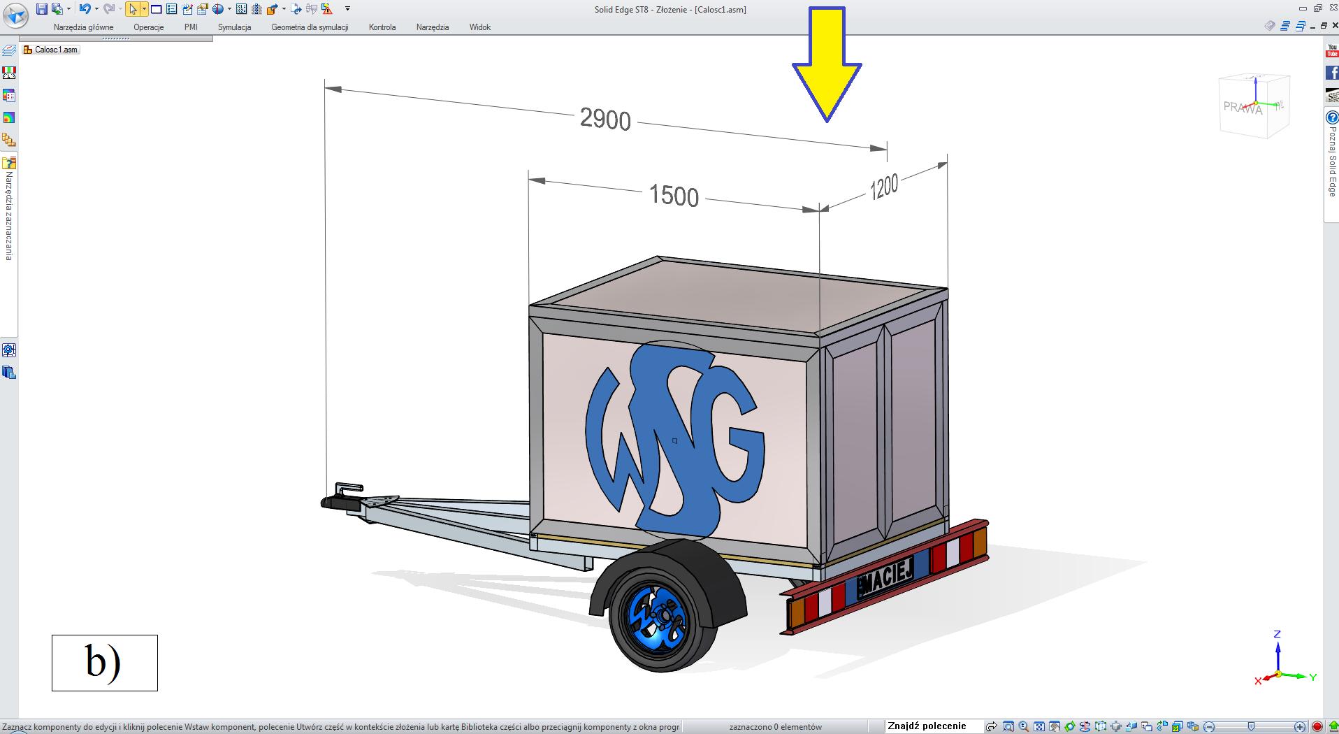 """Etap 2 konfiguratora, wybór rodzaju przyczepy: """"box"""""""