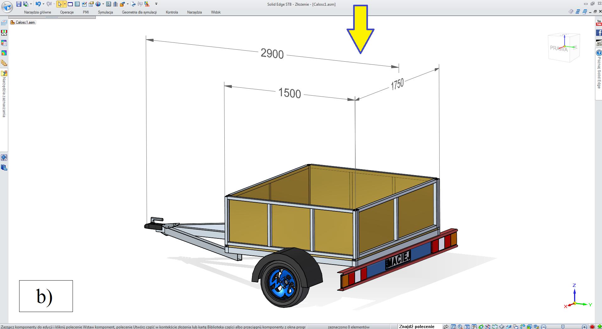 Etap 3 konfiguratora, wybór (ew. pozostawienie) wymiaru szerokości, na podstawie zbioru wartości predefiniowanych
