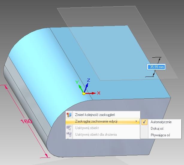 Model synchroniczny z operacją Zaokrąglenie – mimo braku zmiennej pochodzącej z operacji, wyłączonych regułach i braku trwałego wiązania, styczność lic w trakcie edycji jest zachowywana (zmożliwościąwyboru dwóch wariantów rozwiązania).