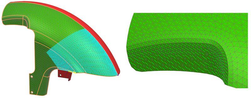 Symulacja nakładania warstw materiału kompozytowego i weryfikacja ułożenia włókien
