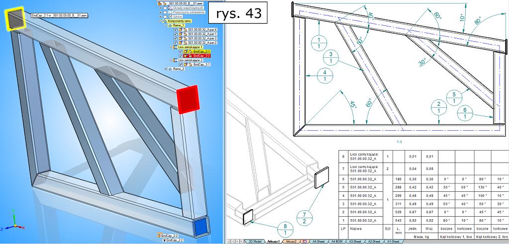 modelowanie konstrukcji ramowych