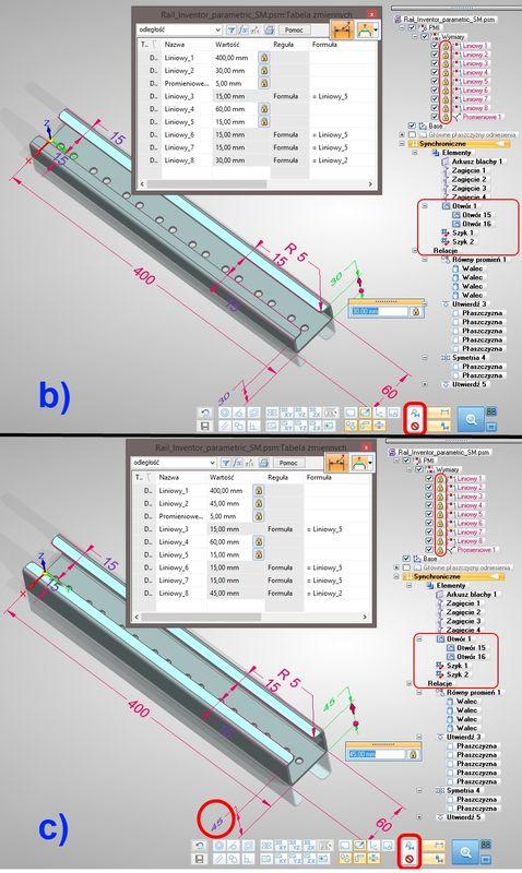 Parametryzacja modeli części w technologii synchronicznej