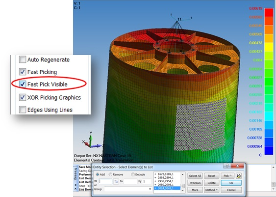 Fast Pick Visible w Femap 11.3.