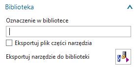 Grupa Biblioteka na zakładce Narzędzie.