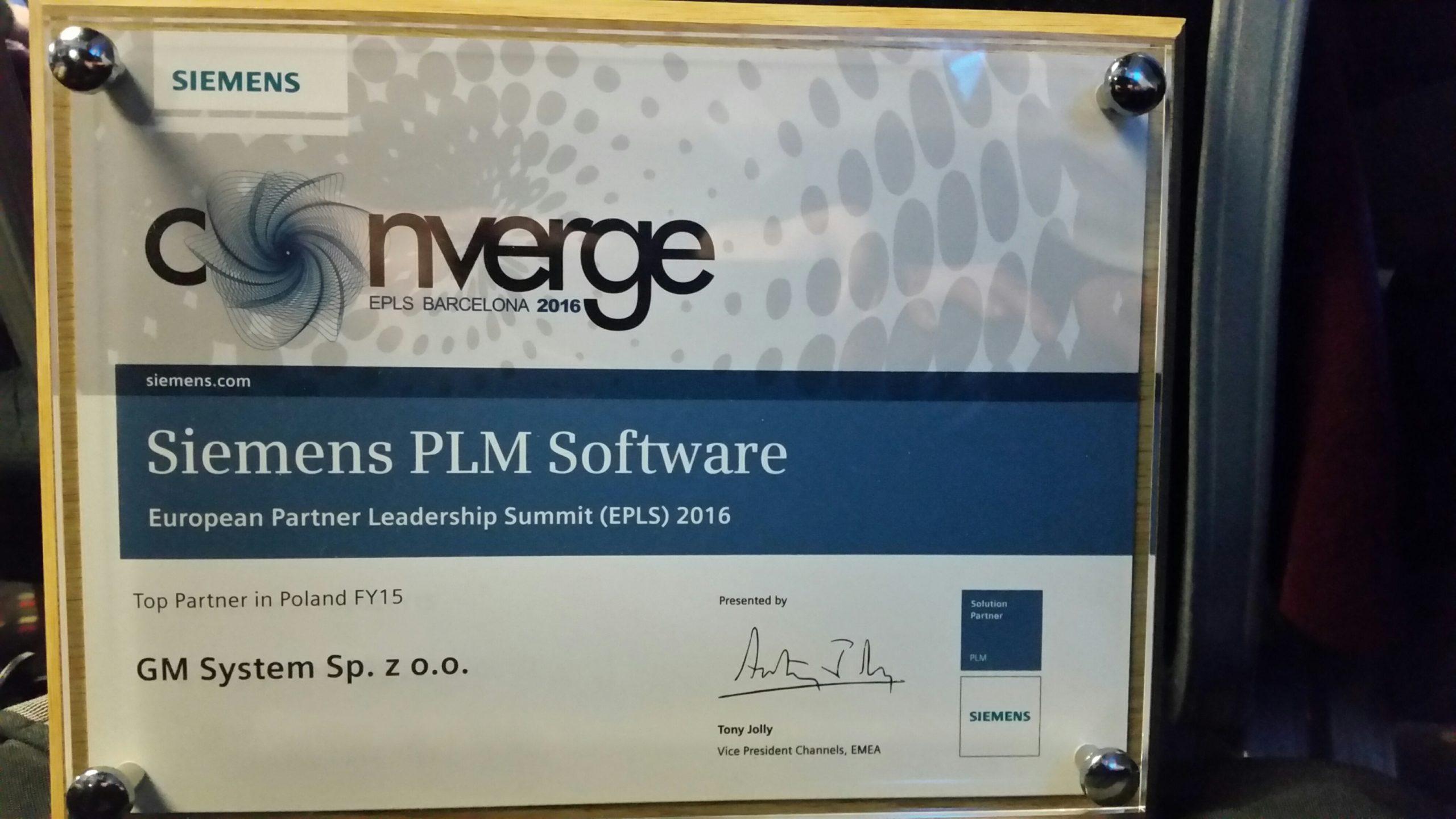 GM System Siemens Top Partner in Poland 2015