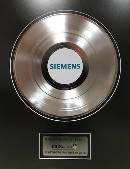 GM System trzeci rok z rzędu Platynowym Partnerem Siemens
