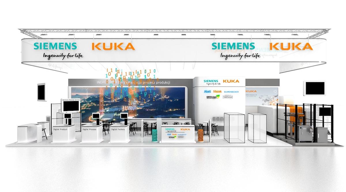 Stoisko Siemens, Kuka, GM System na targach Machtool 2017