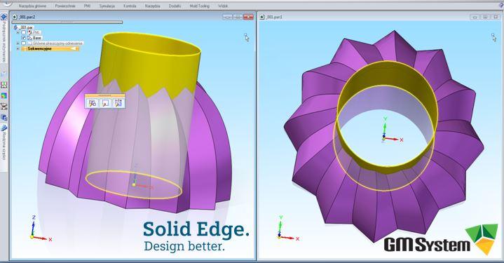 Modelowanie powierzchniowe formy spożywczej za pomocą Solid Edge