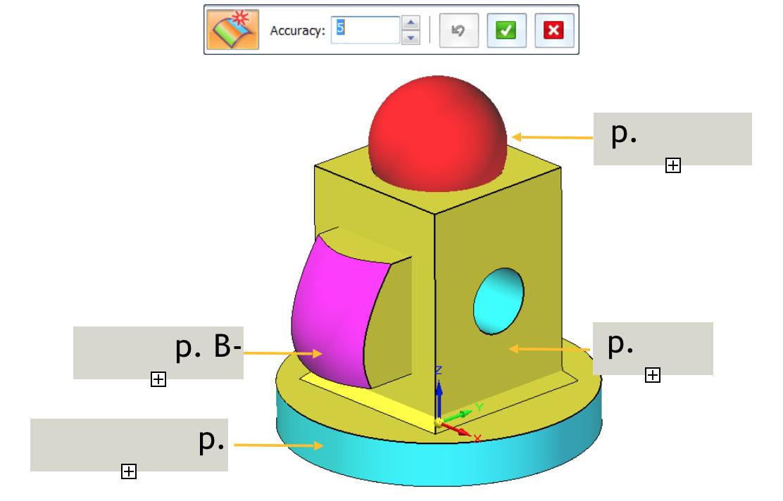 Narzędzia Solid Edge Reverse Engineering - polecenie Automatic Region Creation