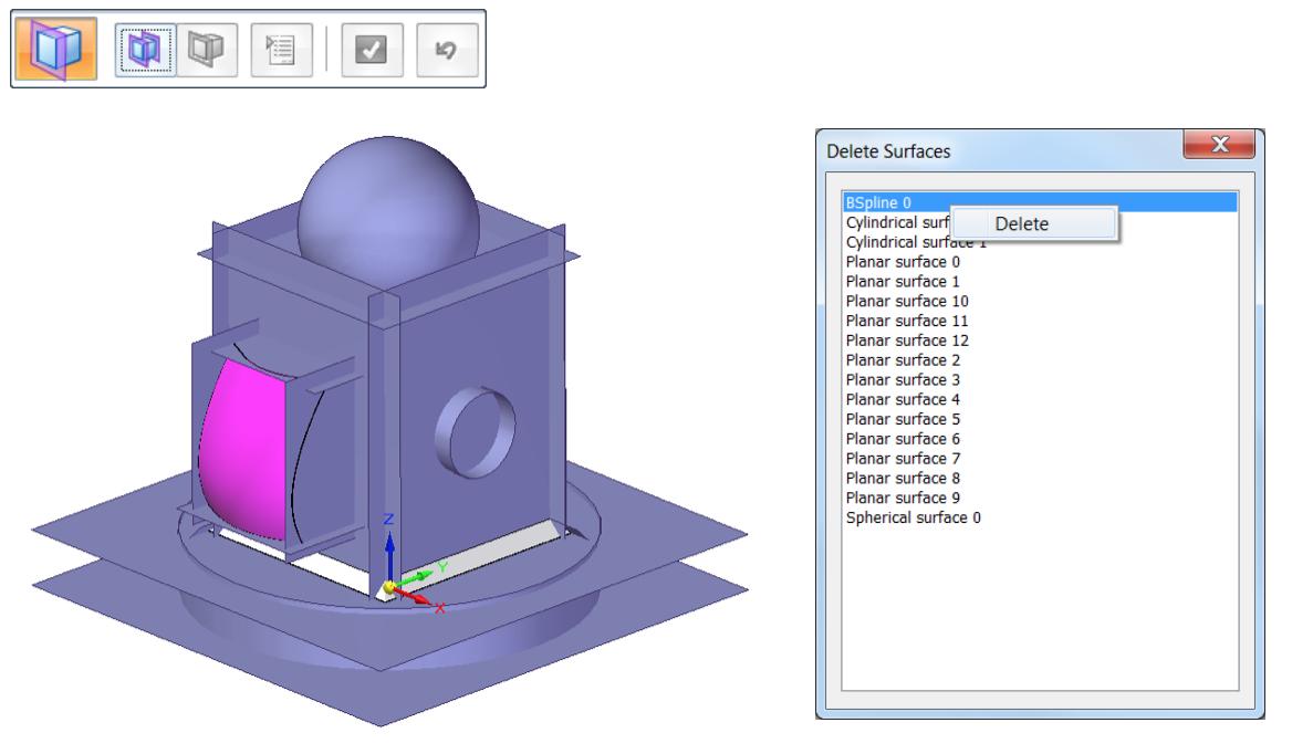 Narzędzia Solid Edge Reverse Engineering - polecenie Extract