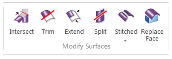 Narzędzia Solid Edge z grupy Modyfikuj powierzchni