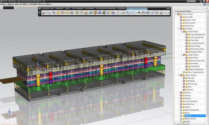 Wydajne projektowanie tłoczników wielotaktowych w systemie NX8